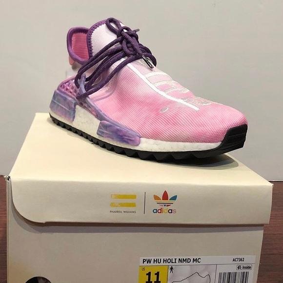 "0e36e40bfb482 Pharrell Williams x NMD Trail Hu Holi ""Pink Glow"""